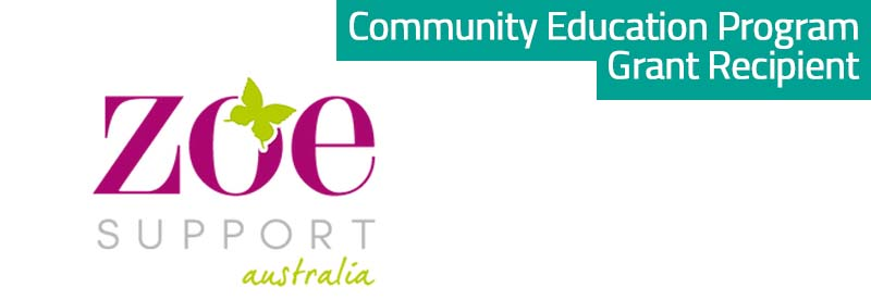 Zoe Support - Community Education Program Grant Recipient